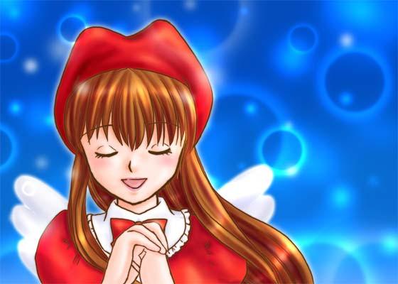 2008年2月のバレンタイン天使絵