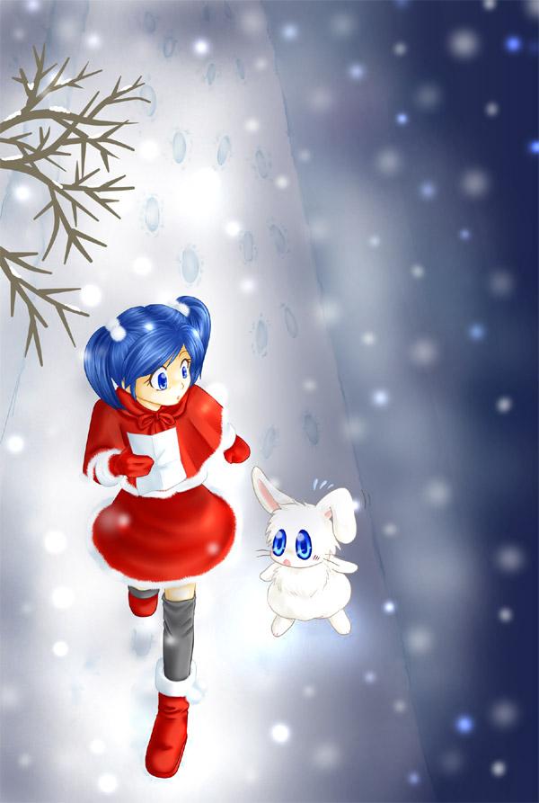12月の壁紙用に描いた絵
