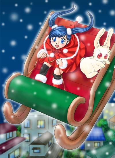 2006年12月のTop絵(恒例の聖夜ちゃん)