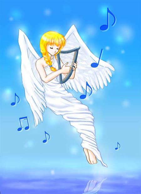 羽と音楽のイメージ
